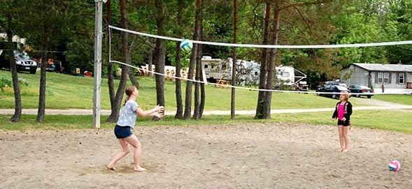 Campers Haven Beach Volleyball Court