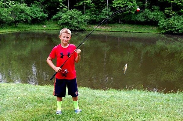 Campers Haven Fishing on Pond